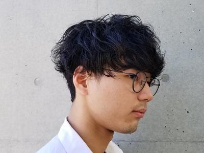 くせ毛風クシャ髪マッシュ男子@
